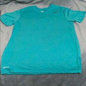 Teal men's athletic cut Nike dri-fit t shirt